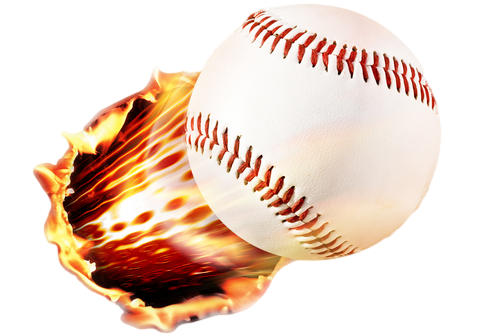 Baseball-on-fire landscape